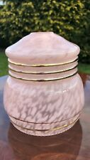 Beautiful Antique Vintage Pink and Gold Glass Lampshade