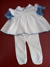 Vtg Coleco Cabbage Patch Doll Kid dress White with Blue checks Canada Ltee Girl