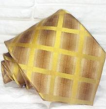 Cravatta ,Nuova,Made in Italy, 100% seta , marrone , realizzata a mano
