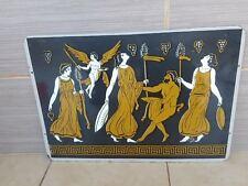 super rare Vintage antique sign enamel porcelain ancient GREEK GRECIA GREECE