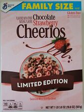 NEW CHOCOLATE STRAWBERRY CHEERIOS FLAVORED CEREAL 19.8 OZ BOX FREE SHIPPING