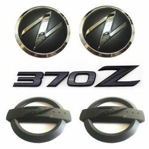 Black 370Z Kit Front Grille Side Rear Badge Emblem Letter for Fairlady Z Nissan