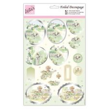ANITAS FOILED DECOUPAGE BLOUSEY ROSES TOPPERS FOR CARDS /& CRAFTS