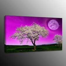 Canvas Print Art Painting Picture Purple sky Tree Wall Art Home Decor No Frame