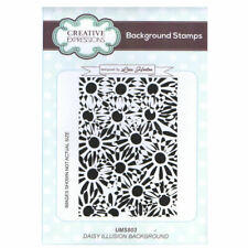New listing Lisa Horton A6 Background Stamp - Ums803 Daisy Illusion Background