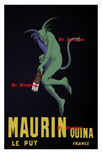 Vintage Maurin Quina Print, Absinth Wine Bar, Decor, Wall Art, Green Fairy