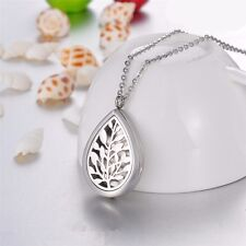 60cm Stainless Aromatherapy Essential Oil Diffuser Teardrop Locket Necklace