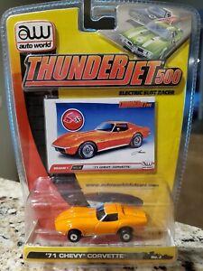 Auto World release 1 thunderjet series orange 1971 chevy corvette slot car New
