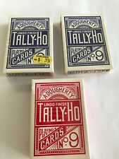 Tally Ho No 9 A Dougherty Vintage/Antique? Playing Card Decks - Set of 3