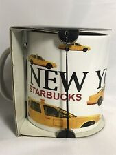 Starbucks 2001 Barista City Mug, New York City Taxi Mug, 20 oz., New W/Tags