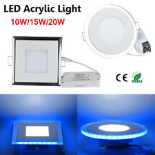 1/4/10/20x 10W 15W 20W Acrylic LED Recessed Ceiling Panel Down Light Bulb Lamp