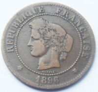 1896.A France CERES 5 CENTIMES coin