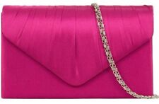 Pink Clutch Bag Cerise Satin Evening Bag Fuchsia Shoulder Bag Hot Pink Prom Bag