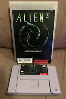 Alien 3 SNES 1993 Authentic, Tested with Manual