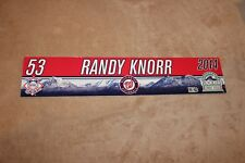 Washington Nationals GAME USED (Randy Knorr )   Locker Name Plates Rare!!