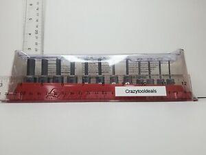 """Snap On Tools 12 pc SAE Standard Hex Driver Bit Socket Set 212EFTAY (1/16-3/8"""")"""