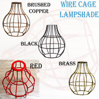 Vintage Edison Pendant Light Lampshade Metal Industrial Wire Cage Bulb Cover UK
