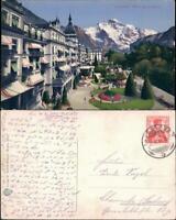 Ansichtskarte Interlaken Höheweg, Jungfrau 1911