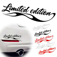 1x Car Styling Limited Edition Sticker Funny Auto Car Sticker Badge Decal 3color
