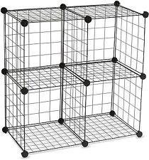 Essential Home 4-Cube Wire Storage Unit Set Garage Closet Organization Shelves