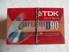 Lot of 5 Sealed TDK Superior Normal Bias D90 Audio Cassette Tapes