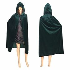 Adult Hooded Robe Cloak Cape Witch Costume Party Halloween Cosplay Festival Prop