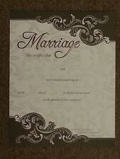 Scroll Border Marriage Certificate - 102.123905