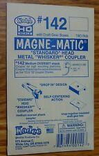 """Kadee HO #142 (""""Standard"""" Head Metal """"Whisker"""" Coupler) Two Pair in Package"""