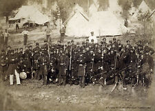 "1861 Photo CIVIL WAR, Soldiers @ Camp Douglass,Military America History, 20""x14"""