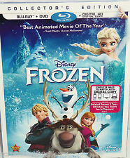 Frozen Disney Película Blu-ray DVD 2014 2-disc juego no digital copia dibujos