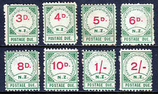 NEW ZEALAND — SCOTT J4//J11 — 1899 3d to 2/- POSTAGE DUES — MH — SCV $802.50