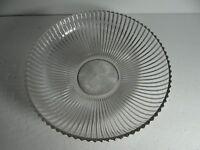Heisey Bowl Ridgeleigh Large Round Glass Clear Diamond H