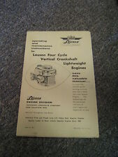 Vintage Lauson Four Cycle Lightweight Engine Operating & Maintenance Manual