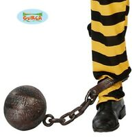 Adult Fancy Dress Joke Stag Ball /& Chain Convict Prisoner Cop by Smiffys New