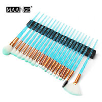 20Pcs Diamond Makeup Brushes Set Eyeshadow Contour Cosmetic Make Up Tool