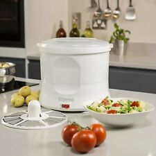 Electric Potato Peeler Salad Spinner Appliance 70 W Kitchen Food Prep White 1KG
