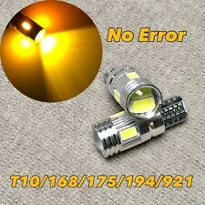 Parking Light T10 6 SMD LED Wedge 194 2825 168 12961 W5W 175 AMBER W1 JAE