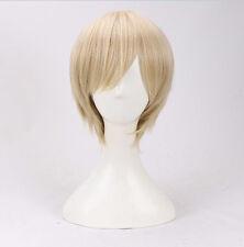 ONE PIECE New World Sanji Short Fancy Dress Cosplay Wigs Full Wigs +a wig cap