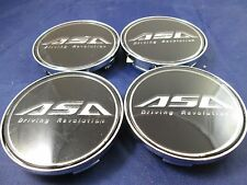 ASA BLACK  CUSTOM WHEEL CENTER CAPS*           #AR6/ #AR6-CAP    (FOR 4 CAPS)