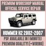 WORKSHOP MANUAL SERVICE & REPAIR GUIDE for HUMMER H2 2002-2007 +WIRING