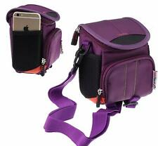 Navitech Purple Bag For Canon PowerShot ELPH 180 Camera NEW