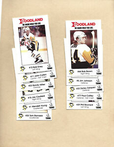 PITTSBURGH PENGUINS /Foodland 1990,near complete 1st year