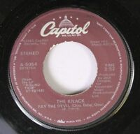 Rock 45 The Knack Pay The Devil (Ooo, Baby, Ooo) On Capitol