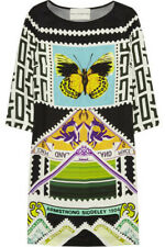 MARY KATRANTZOU TELEPORT BUTERFLY PRINT SILK MULTI MINI DRESS SIZE US S $968