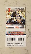 Illinois Fighting Illini Northwestern Wildcats Football Ticket 11/30 2013 Stub