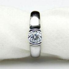 2 Ct Golden Moissanite 10k White Gold Solitaire Wedding Engagement Ring