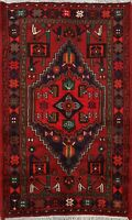 Traditional Geometric Tribal Area Rug Hand-Knotted Wool Oriental RED Carpet 3x5