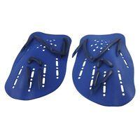 2 pcs Blue Plastic Swim Swimming Webbed Hand Paddles HY