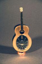 Tischuhr, Wecker, Swiza 7 Jewels , in Gitarrenform, Walzer Weckton Gitarre Uhr