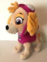 """Paw Patrol Skye Plush Stuffed Animal Toy Dog 16.5"""" Pink Nickelodeon"""